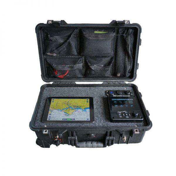 AIS Deploy is a portable Class A AIS transponder system supplied with GPS and VHF antennas and an integrated 12v DC rechargeable battery.
