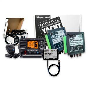 Ajouter la capacité de transpondeur AIS de classe B+ à une radio VHF Icom M506. Ce pack comprend l'AIS, le répartiteur VHF et la radio VHF ICOM M506.